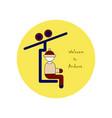 flat icons on theme of andorra ski resort logo vector image
