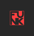 funk music logo musical t-shirt print lettering vector image