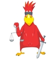 Funny Parrot Law vector image