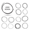 hand drawn circles for logo design vector image