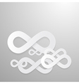 Paper Infinity Symbols Background vector image