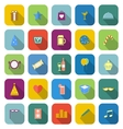 Party color icons with long shadow vector image