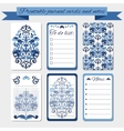 Printable notes journal cards labels with blue vector image