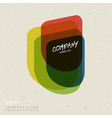 retro colorful abstract icon vector image
