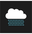 cloud with drops rain isolated icon vector image