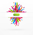 Bright Floral Banner vector image