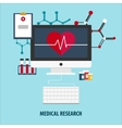 Flat Medical help First aid vector image