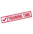 Training time stamp vector image vector image