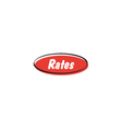 Rates button vector image vector image