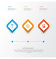 hardware icons set collection of hdd internet vector image