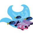 coral fish swimming vector image