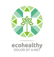 Abstract Logo Ecohealthy Leaves Go Green Design vector image