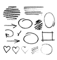 Handwritten coal on a white paper vector image