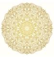 Round decorative lacy vintage ornament vector image
