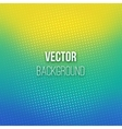 Blue-yellow Blurred Background With Halftone vector image