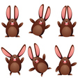 Choco egg bunny vector image