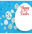 Easter eggs on green background vector image