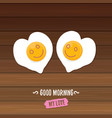 good morning concept breakfast fried chicken egg vector image