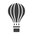 hot air balloon glyph icon transport and air vector image
