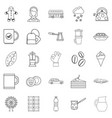 infusion icons set outline style vector image