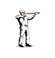 Sailorman with Telescope vector image