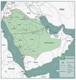 Saudi Arabia map with selectable territories vector image