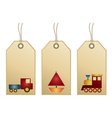 toys tags vector image