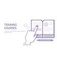 training courses online education business concept vector image