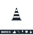 Traffic cone icon flat vector image
