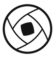 Semi-closed lens icon simple style vector image
