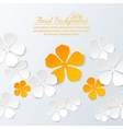 Paper floral background with place for text vector image vector image