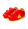 icon baby shoes vector image