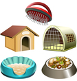 Dog accessories set vector image vector image