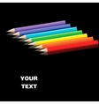 Color pencils on smooth surface vector image vector image