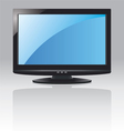 lcd screen with blue display vector image vector image