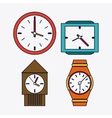 icon set of colorfull Clocks Time design vector image