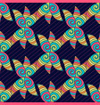 abstract hand-drawn pattern colorful hippie vector image