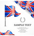 British flag banners with vector image