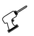 drill tool icon black silhouette vector image