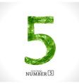 Grunge Number 5 vector image