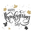 hand lettering thanksgiving greetings text vector image