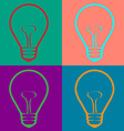 Light Bulb in Warhol style vector image