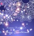 New Year greeting card Circle lace hand-drawn vector image