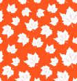 Seamless Pattern of Maple Leaves vector image