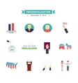 USA presidental election Icons set Vote concept vector image