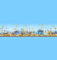wide head banner of city skyline construction vector image