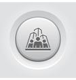 Business Team Icon Grey Button Design vector image