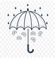 silhouette of an umbrella vector image