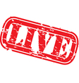 Live stamp vector image