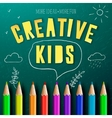 Concept of creative education for kids vector image